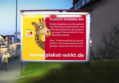 Plakate kommen an