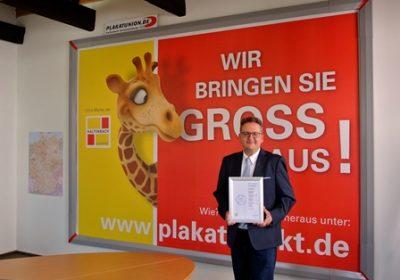 Kaltenbach Aussenwerbung von der Creditreform Zertifiziert