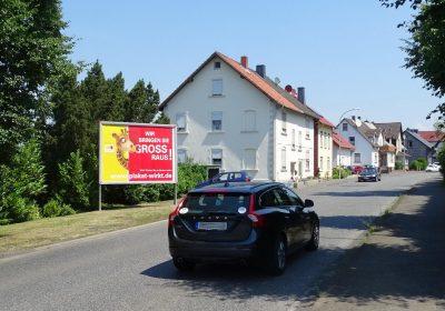 Plakatwerbung an der Bundesstraße in Felsberg-Gensungen - einfach wegweisend.