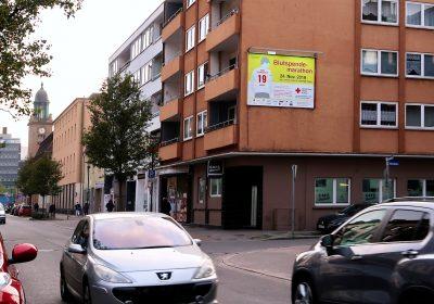 Plakativer Aufruf zum 13. Hagener Blutspendemarathon